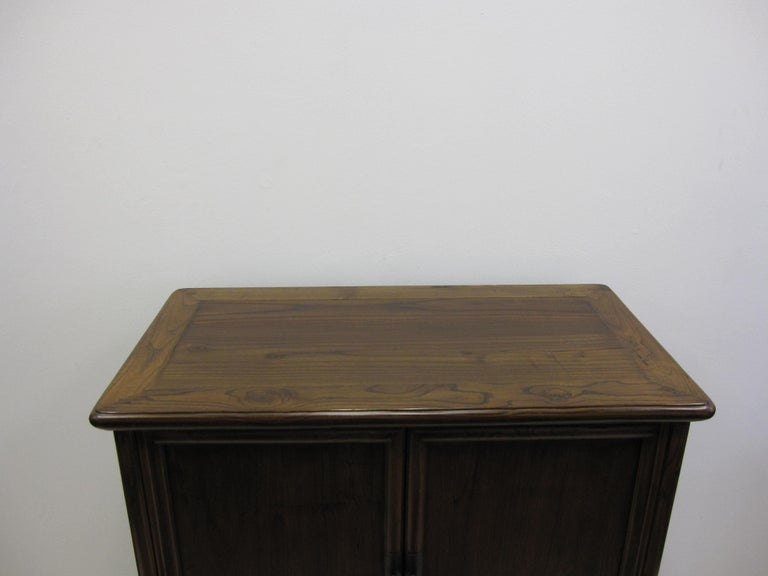 Elm 19th Century Tapered Cabinet For Sale