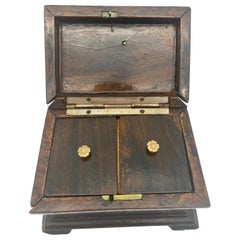 19th Century Tea Caddy with Brass Ornaments