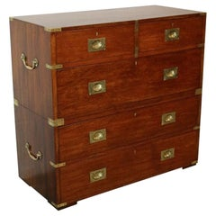 19th Century Teak Campaign Chest of Drawers