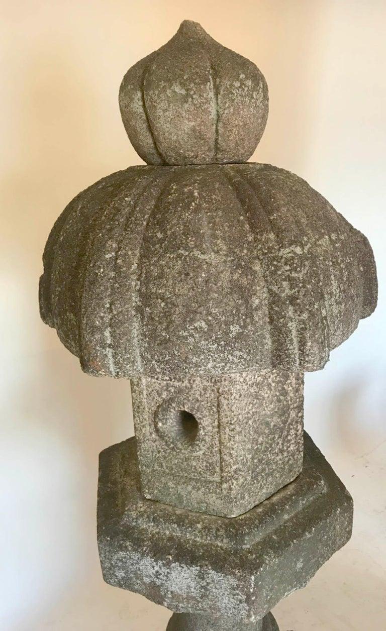 19th Century Temple Stone Lantern For Sale 8