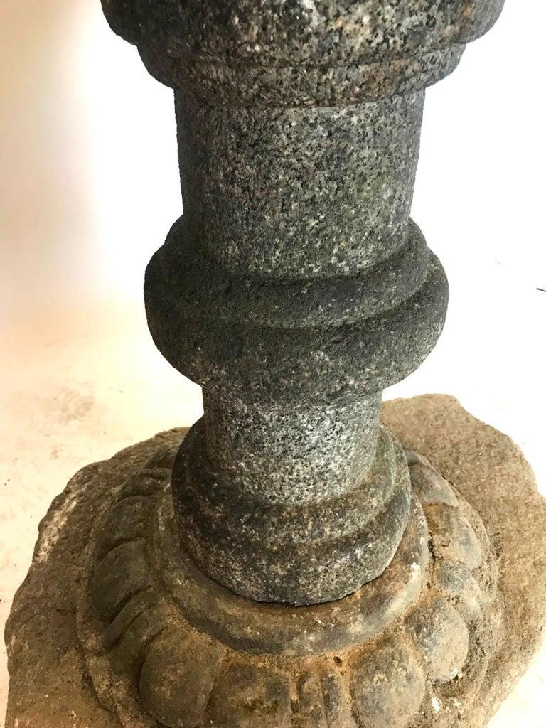 19th Century Temple Stone Lantern For Sale 4