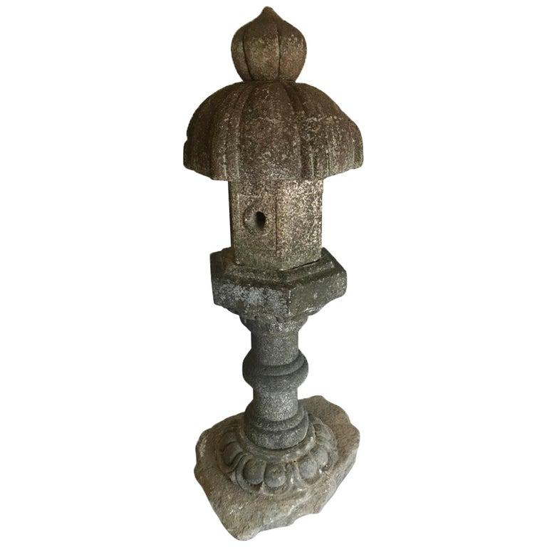 19th Century Temple Stone Lantern For Sale