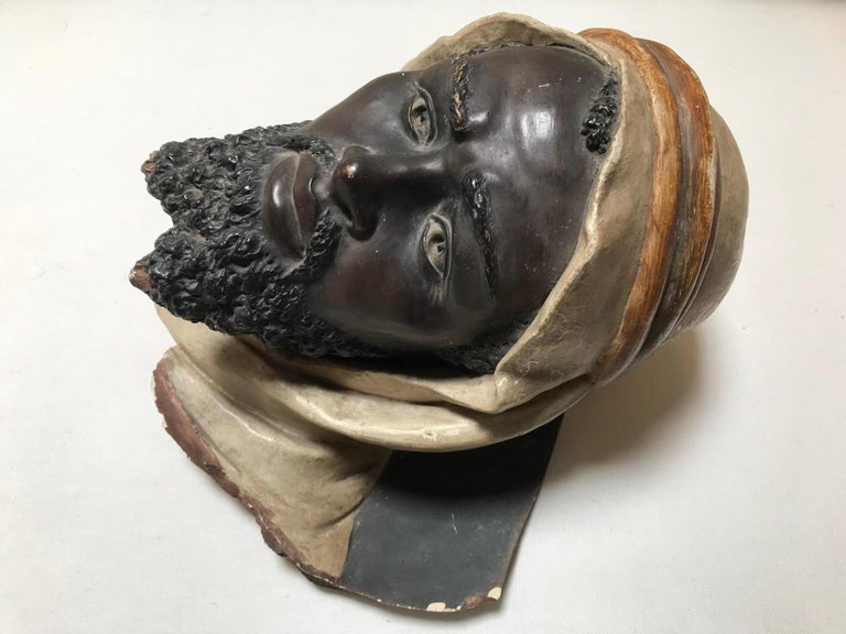 Anglo-Indian 19th Century Terracotta Bust of an Arab Man For Sale