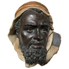 19th Century Terracotta Bust of an Arab Man