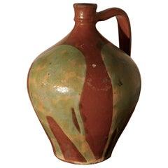 Terrakotta Olivenölkrug aus Portugal, 19. Jahrhundert