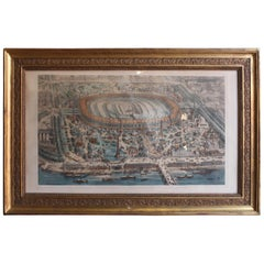 19th Century Th Muller Engraving of the World Exhibition in Paris 1967