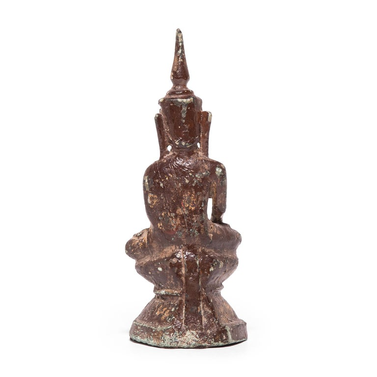 19th Century Thai Bronze Buddha In Good Condition For Sale In Chicago, IL