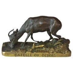 "19th Century ""The Gazelle Of The Desert"" Animal Bronze P. J. Mêne"