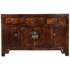 19th Century Three-Drawer Elm Sideboard
