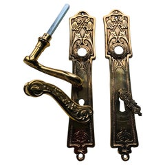 19th Century Three French Restored Brass Door Classic Handles
