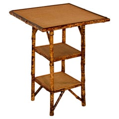19th Century Three-Tier Bamboo Table