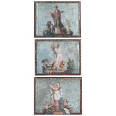 19th Century Three Wallpapers the Three Continents