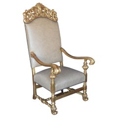 19th Century Throne Chair