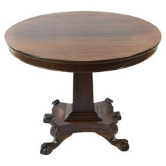 19th Century Tilt Top Rosewood Centre Table