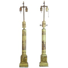 19th Century Tole Table Lamps