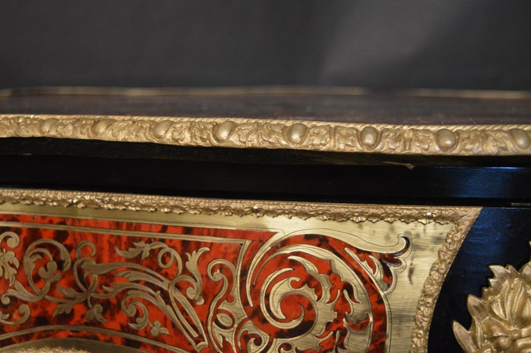 19th Century Tortoise Shell Table with Boulle Marquetry 11
