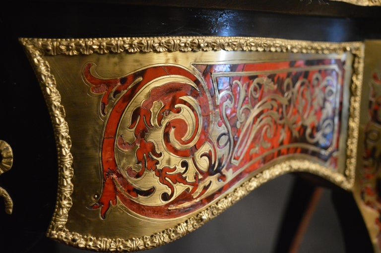 19th Century Tortoise Shell Table with Boulle Marquetry 13