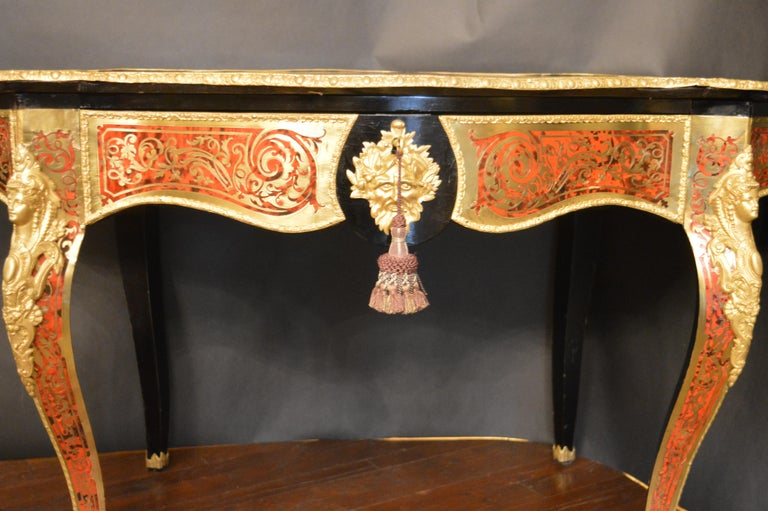 19th Century Tortoise Shell Table with Boulle Marquetry 2