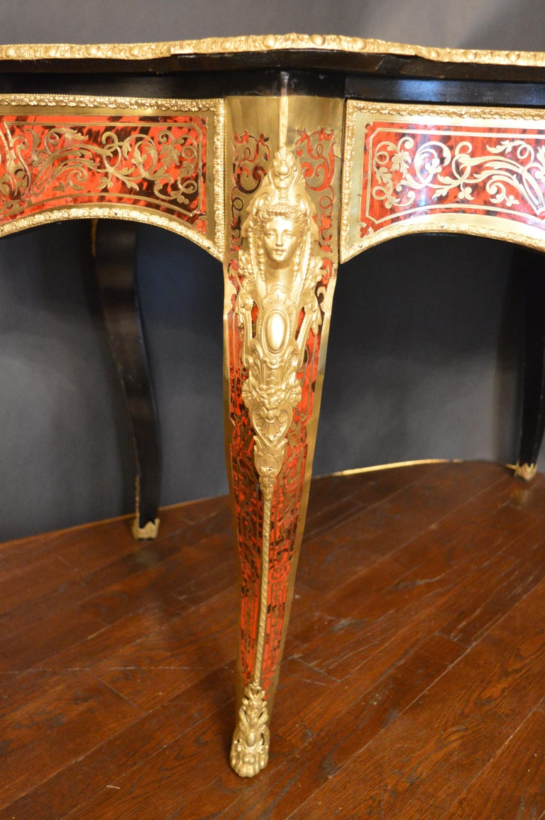 19th Century Tortoise Shell Table with Boulle Marquetry 3