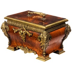 19th Century Tortoiseshell and Gilt Bronze Casket