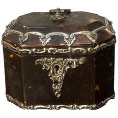 19th Century Tortoiseshell Tea Caddy