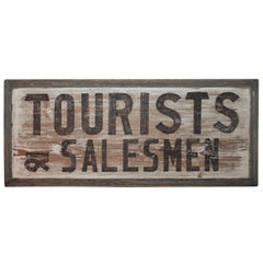 19th Century Tourist Trade Sign