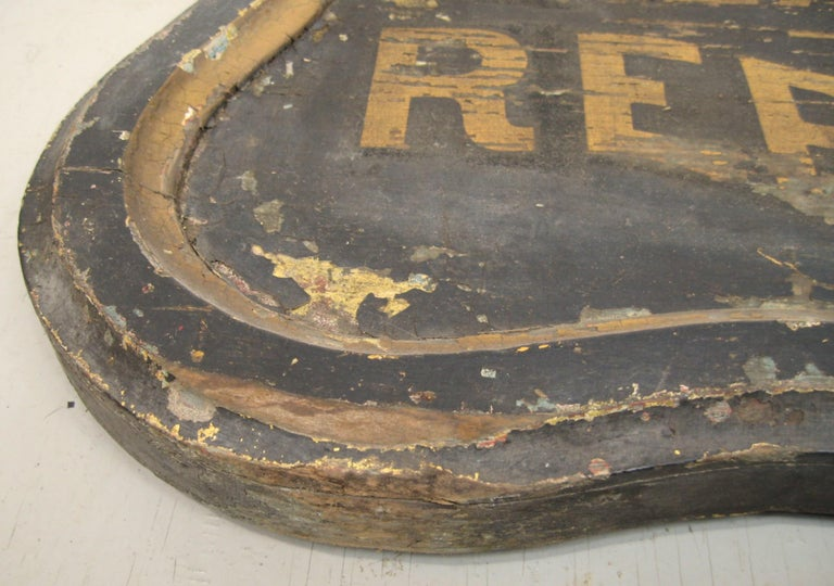 19th Century Trade Sign Clothing Wood Double Sided Wooden Hudson Valley NY  In Good Condition For Sale In Wallkill, NY