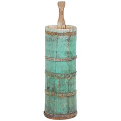 19th Century Traditional Swedish Painted Pine Butter Churn