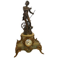 19th Century Travail Par Kossowsk Mantel Clock