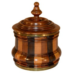 19th Century Treen Lidded Humidor