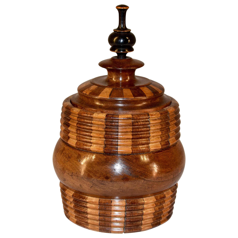 19th Century Treen Lidded Jar