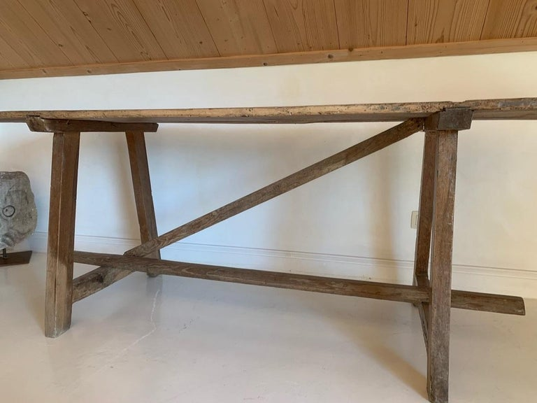 19th Century Trestle Console Table 1