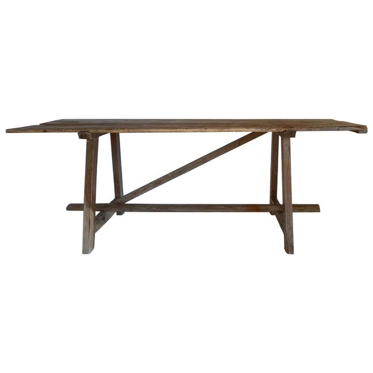 19th Century Trestle Console Table