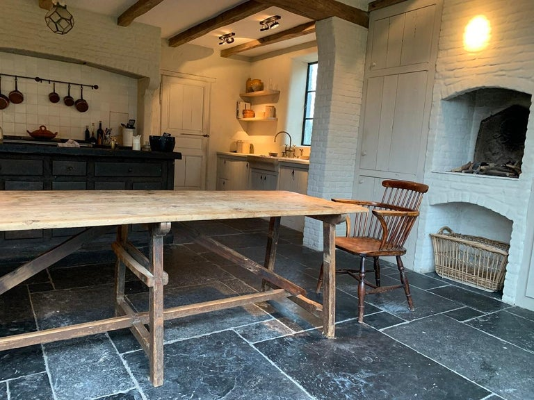 19th Century Trestle Refectory Table For Sale 4