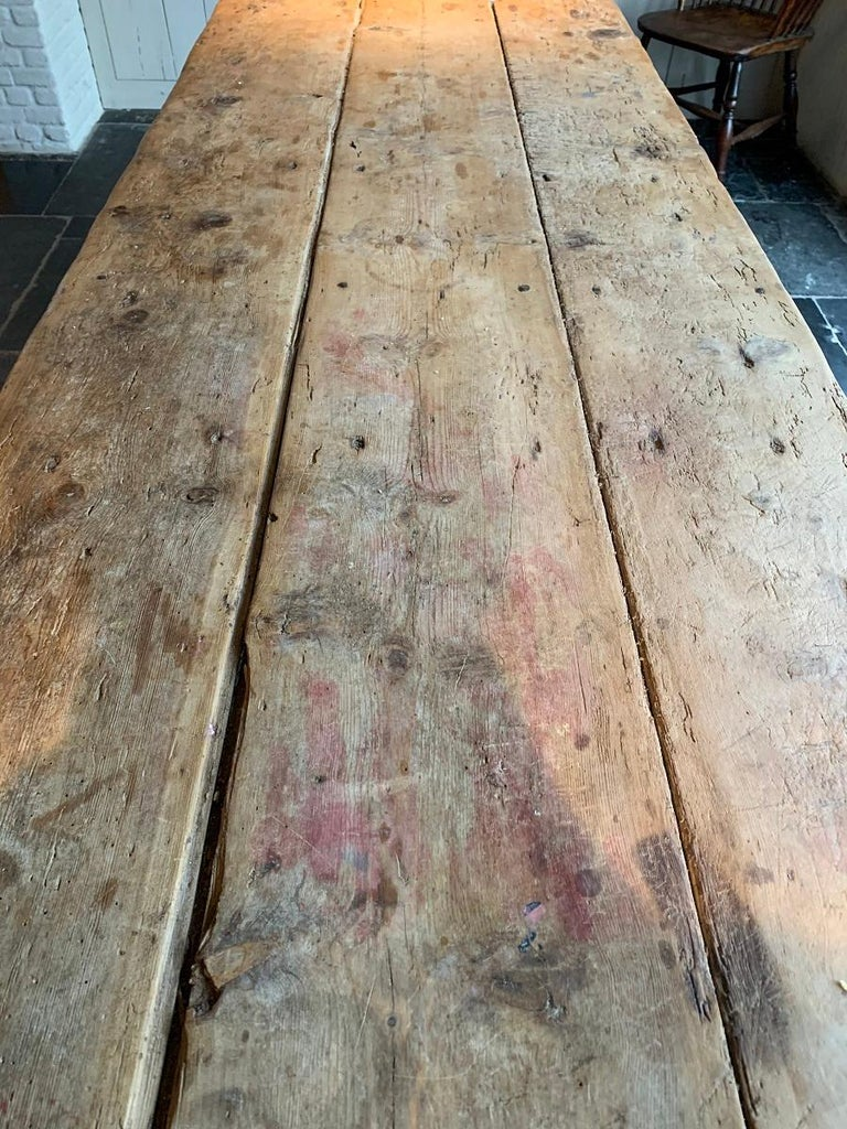 19th Century Trestle Refectory Table For Sale 6