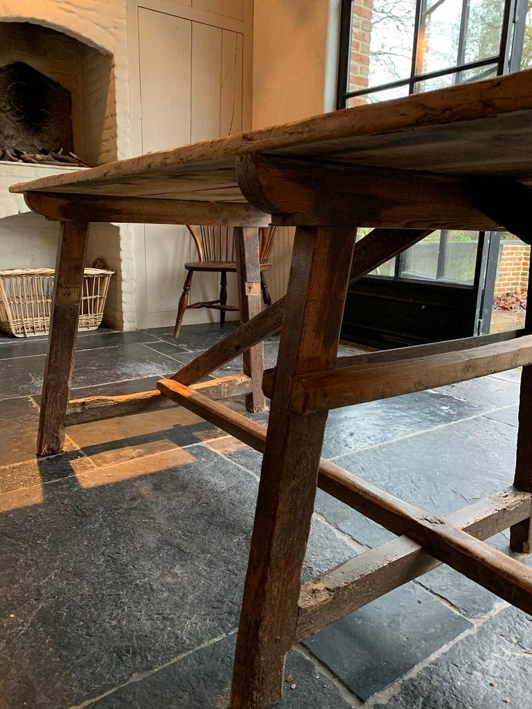 19th Century Trestle Refectory Table For Sale 8
