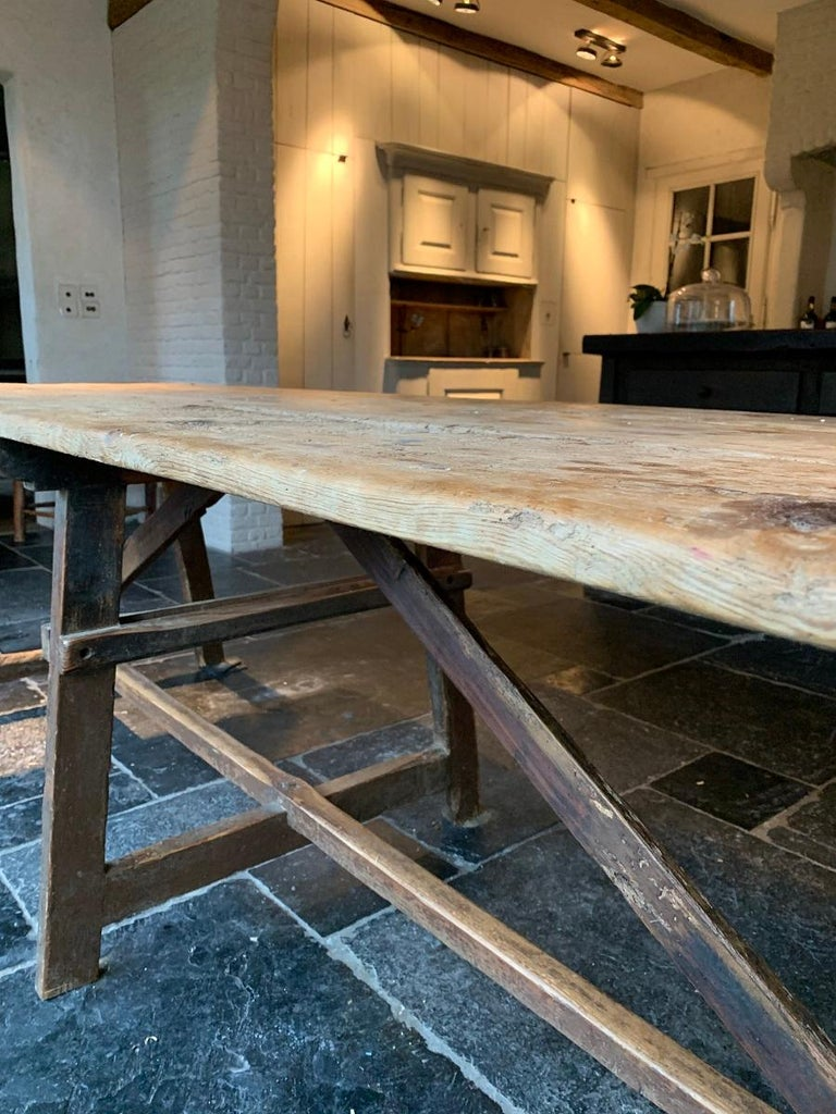 19th Century Trestle Refectory Table For Sale 10
