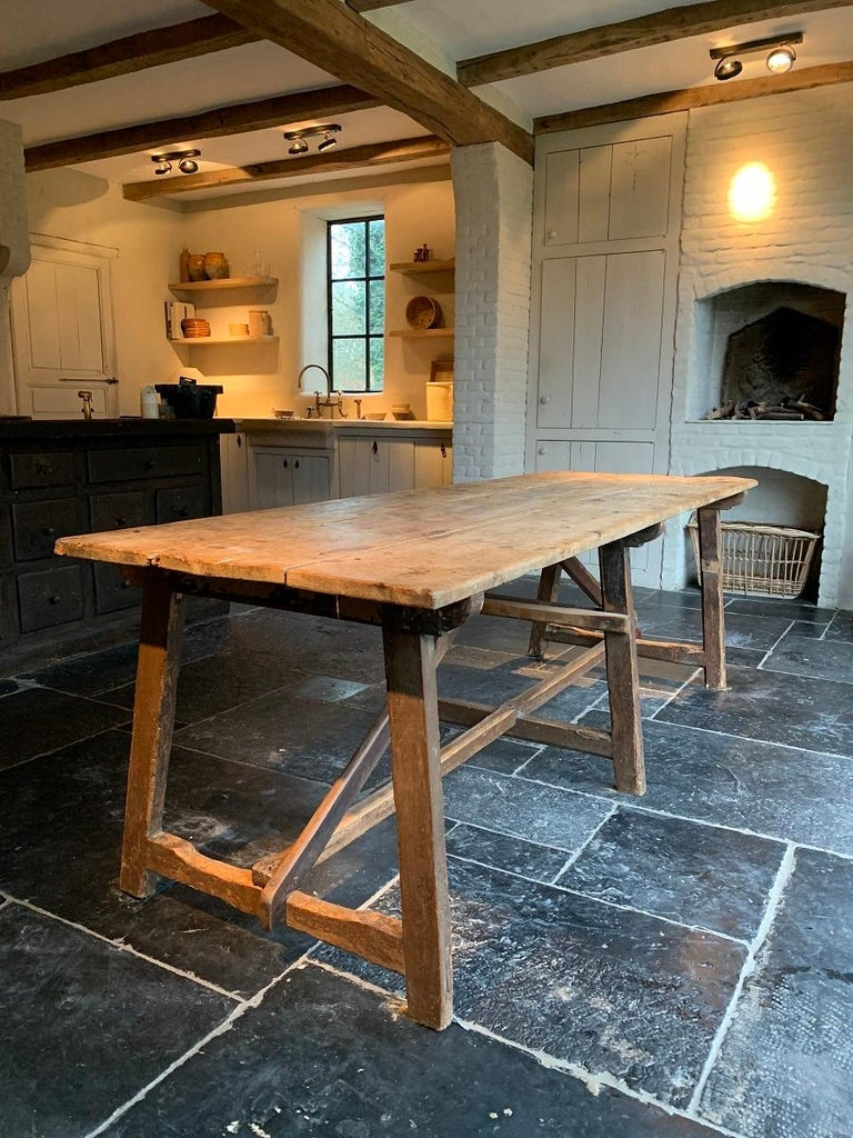 19th Century Trestle Refectory Table For Sale 11