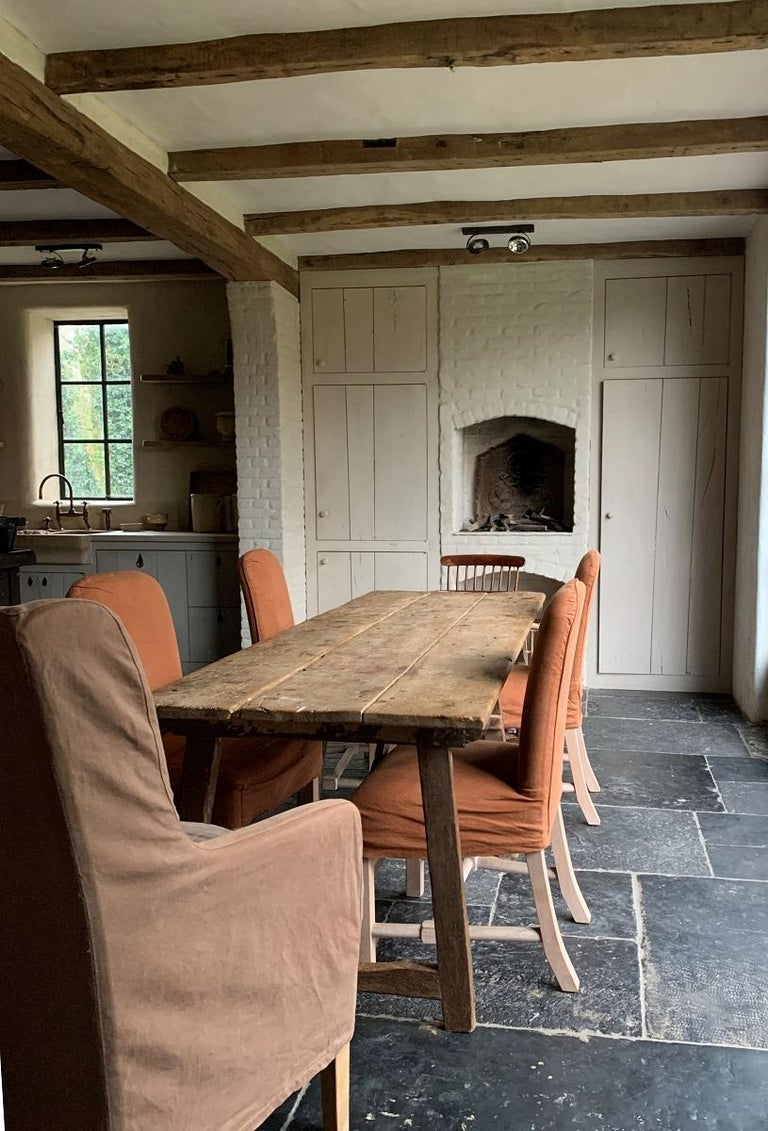 French 19th Century Trestle Refectory Table For Sale