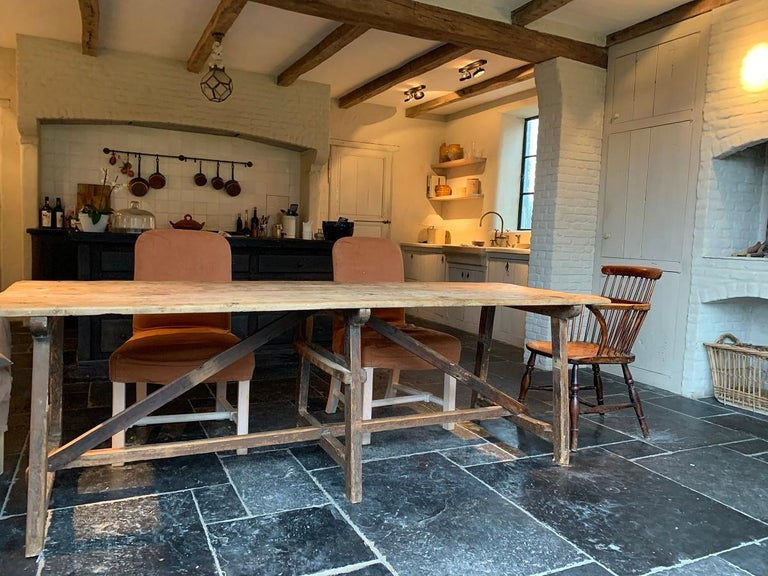 19th Century Trestle Refectory Table For Sale 1