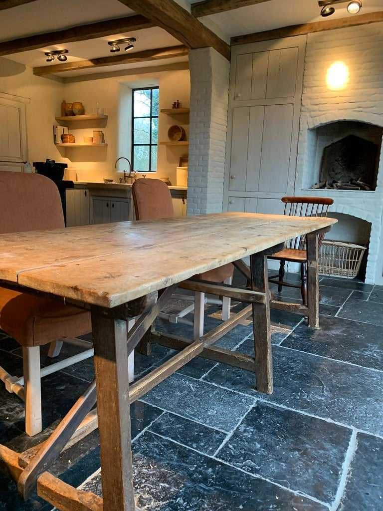 19th Century Trestle Refectory Table For Sale 2