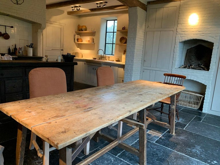 19th Century Trestle Refectory Table For Sale 3