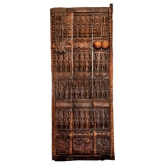 19th Century Tribal Hardwood Dogon Door Panel, 1890