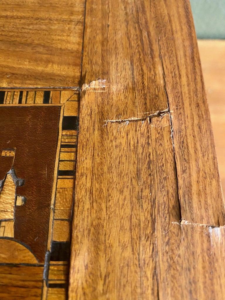 Folk Art 19th Century Trinity House Inlaid Rosewood Sewing Box, circa 1870 For Sale
