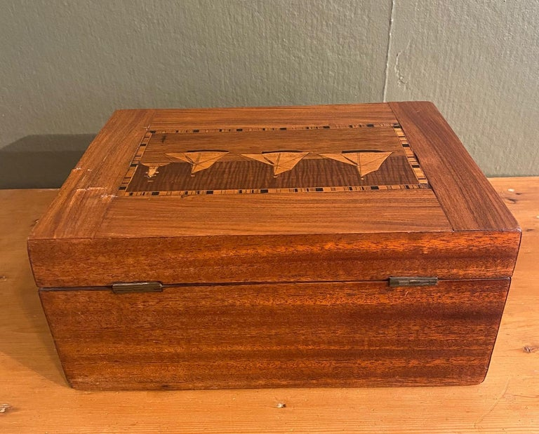 Late 19th Century 19th Century Trinity House Inlaid Rosewood Sewing Box, circa 1870 For Sale