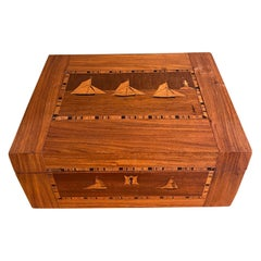 19th Century Trinity House Inlaid Rosewood Sewing Box, circa 1870