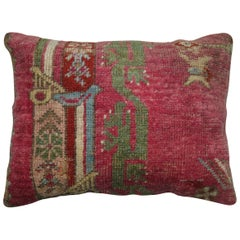 19th Century Turkish Ghiordes Rug Remnant Pillow