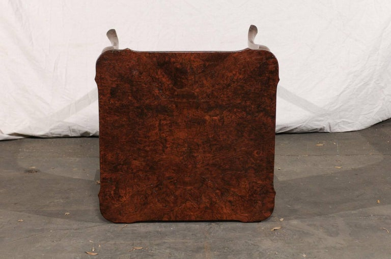 19th Century Turn of the Century Continental Burl Wood Card Table For Sale 5