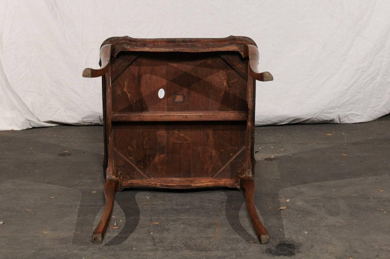 19th Century Turn of the Century Continental Burl Wood Card Table For Sale 6
