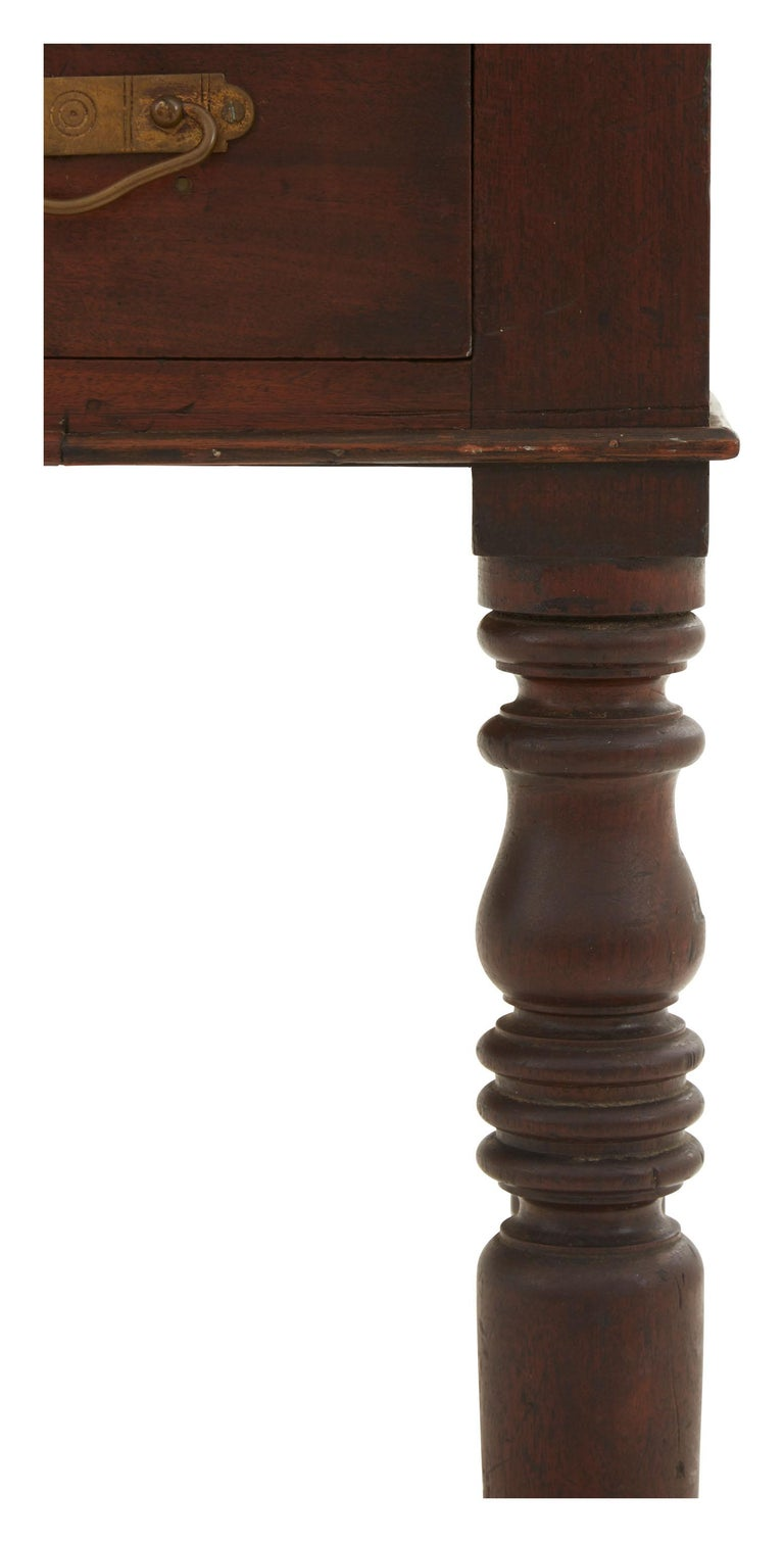 Mid-19th Century 19th Century Turned Leg Standing Office Desk For Sale